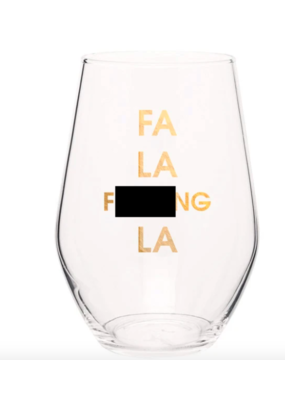 Chez Gagne' Stemless wine glass