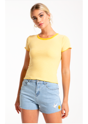 Others Follow Baby Tee Yellow