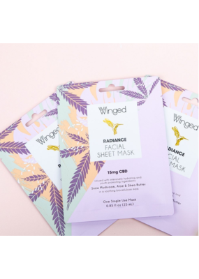 Winged CBD Facial Mask 15 mg