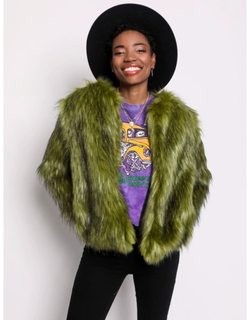 SpiritHoods Jade Fox Fur Bomber