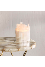 Two's Company Selenite Candle Holder