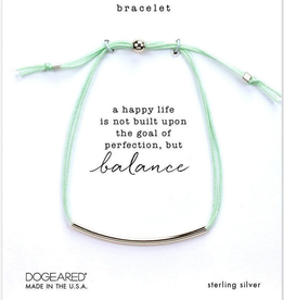 Dogeared Balance Bracelet SS