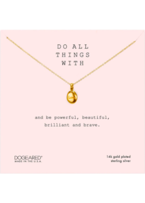 Dogeared Do all Things with Love Necklace Gold