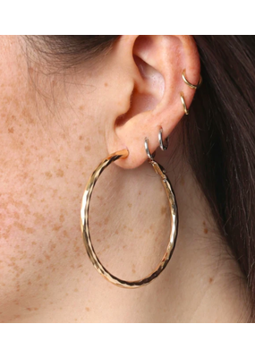 "Marrin Costello Posey Hoops 2"" Gold"