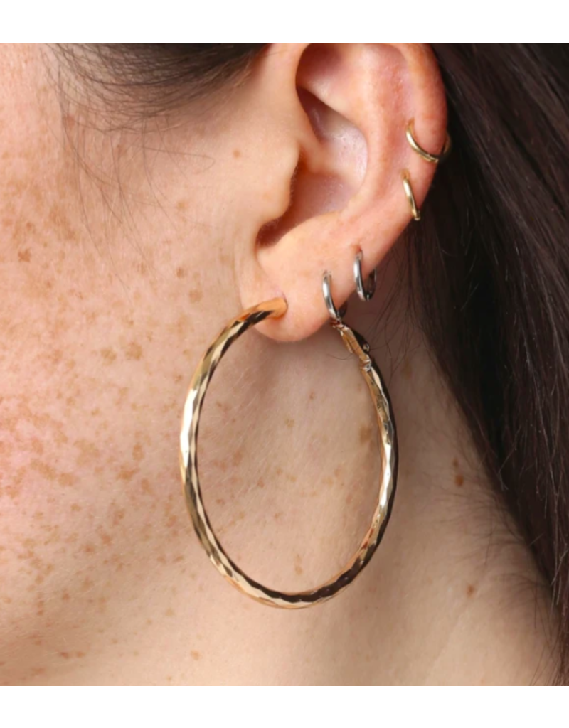 """Marrin Costello Posey Hoops 2"""" Gold"""