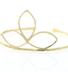 Lotus Jewelry Studio Gold Magnolia Cuff Bracelet