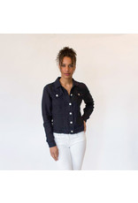 Pure Amici Jean Jacket with Fringe