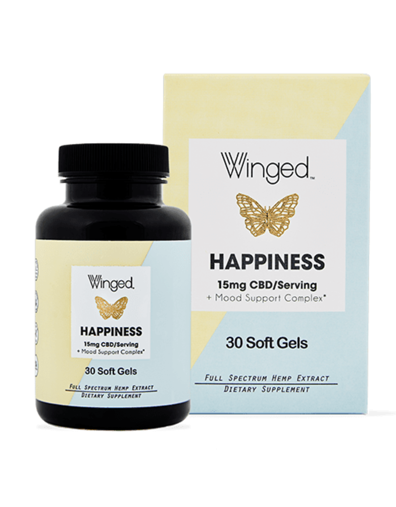 Winged CBD Happiness Soft Gels