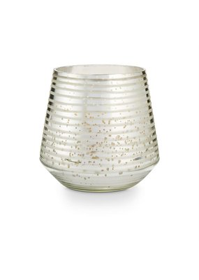 Large Etched Glass Candle Holders
