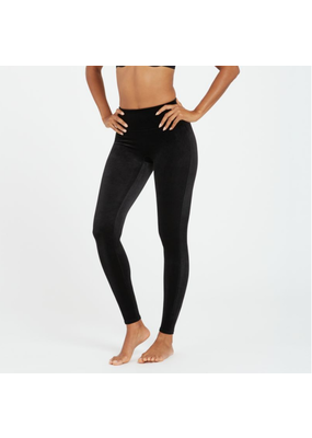 Spanx Black Velvet Leggings