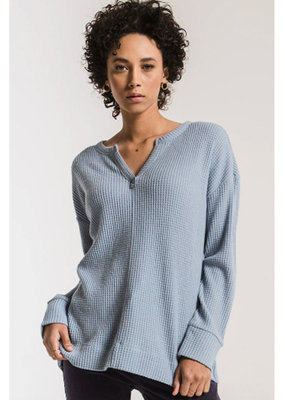 waffle thermal split neck