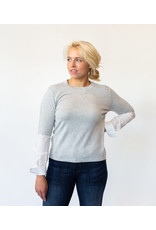 One Grey Day Jackie Poplin Sleeve Top