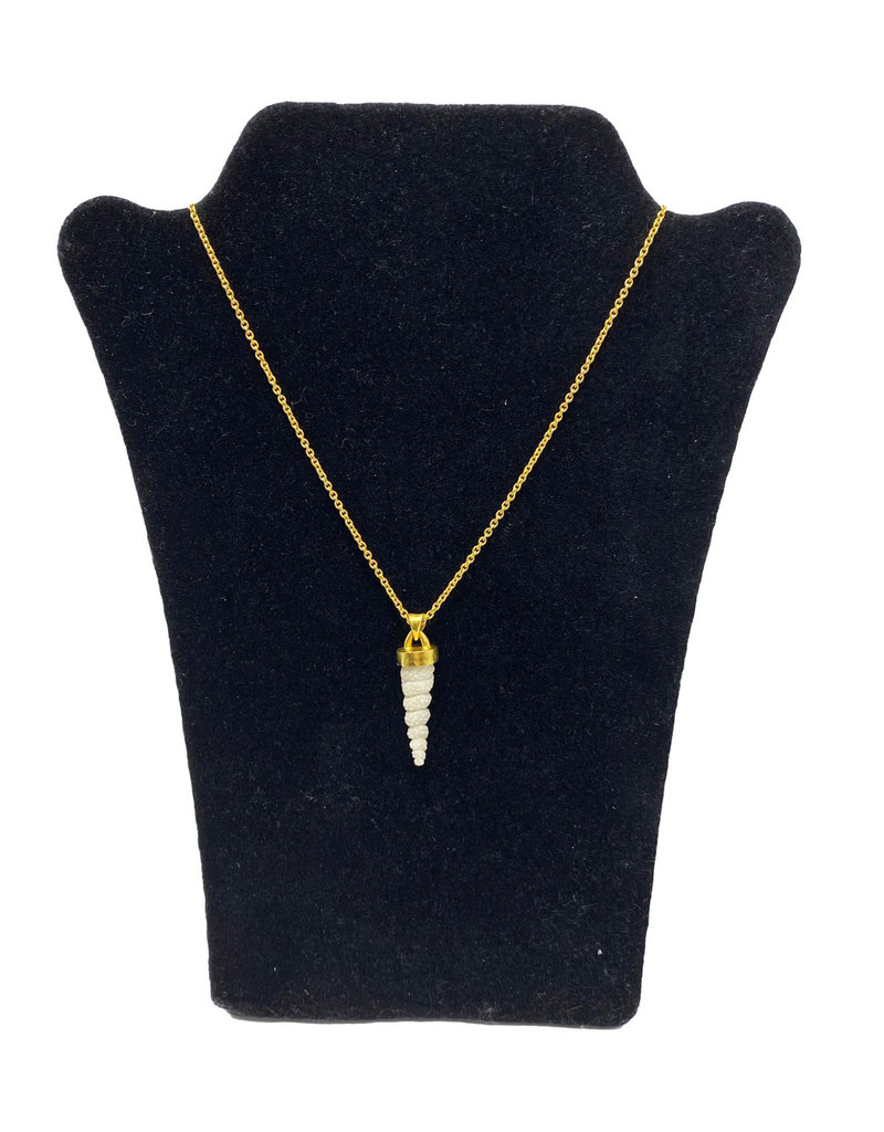 Heather Benjamin Carved Antler Necklace