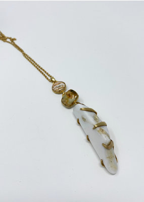 Heather Benjamin Opal & Ocean Jasper Necklace
