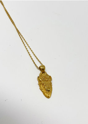 Heather Benjamin Gold Bison Necklace