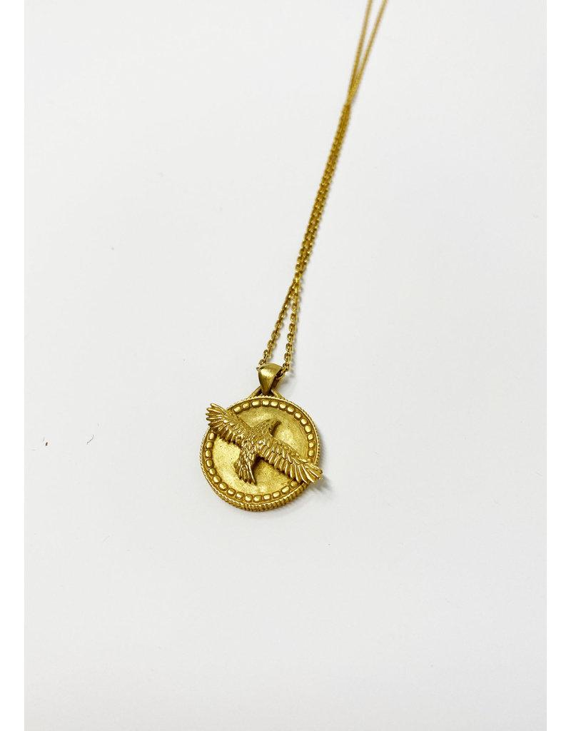 Heather Benjamin Gold Hawk Necklace