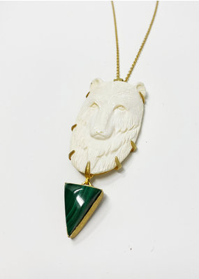 Heather Benjamin Carved Bear Necklace