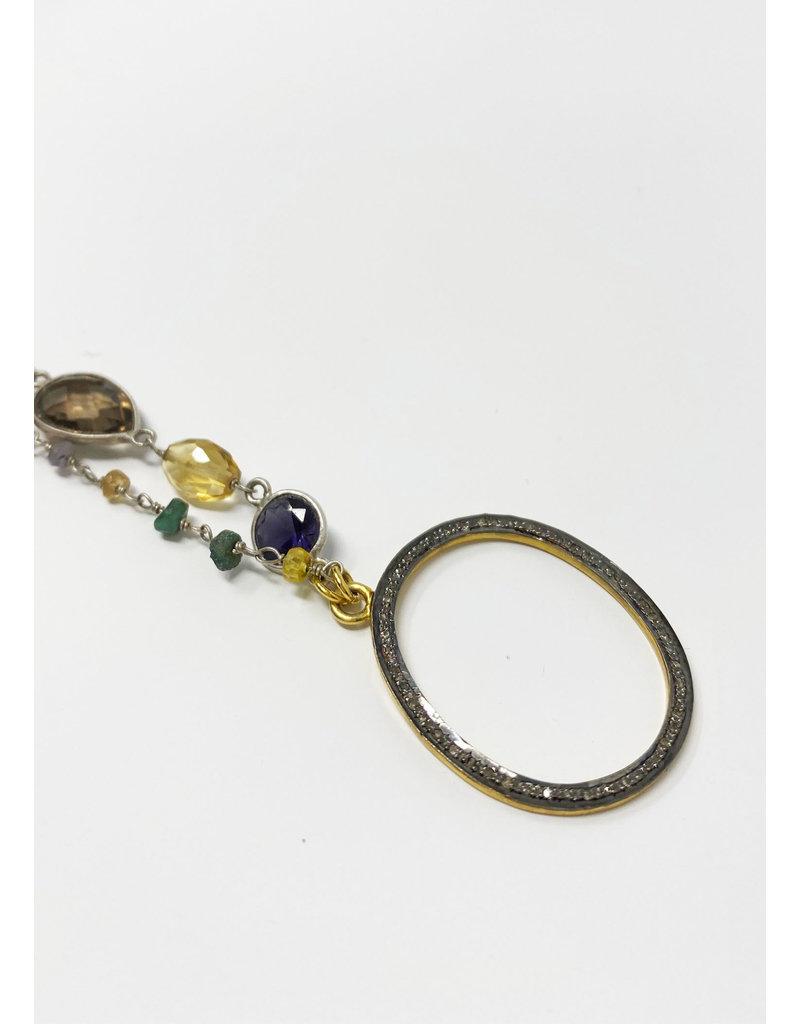 Lela designs Multi Gemstone Eyeglass Pendant