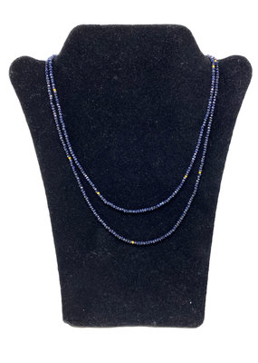 LeLa designs LeLa designs Blue Sapphire & Gold Spacers Necklace