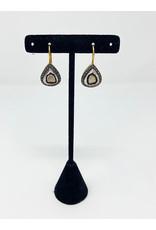 Lela designs Large Polki Pave Drop Earrings