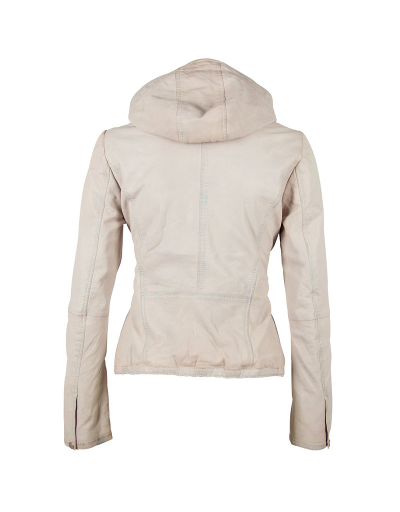 Mauritius Suse White Hoodie Jacket