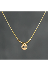 KBD Studio Mini Hammered Love on Delicate Chain Necklace