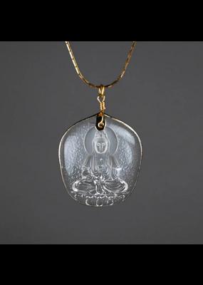 KBD Studio Glass Buddah Adjustable Chain Necklace