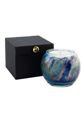 Northern Lights Esque Globe Candle 4""