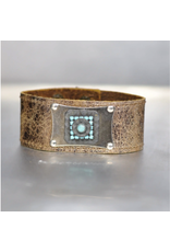 KBD Studio Turquoise Vintage Stone on Weathered Cuff