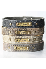 KBD Studio Love Leather Cuff- Lava Mist