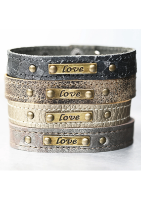 KBD Studio Love Leather Cuff- Lava Mist