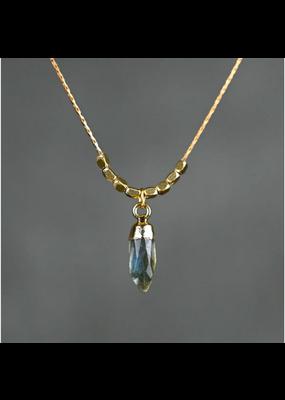 KBD Studio KBD Studio Mini Semi Precious Bullet- Crystal Quartz Necklace