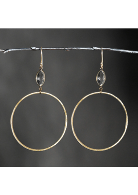 KBD Studio KBD Studio Large Gold Hoops- Prasolite