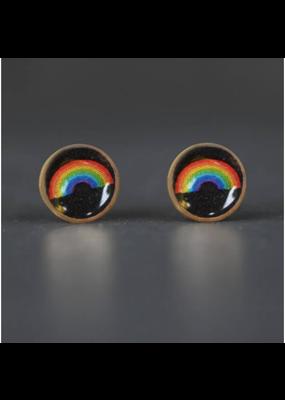 KBD Studio Tiny Picture Studs- Deco Rainbow
