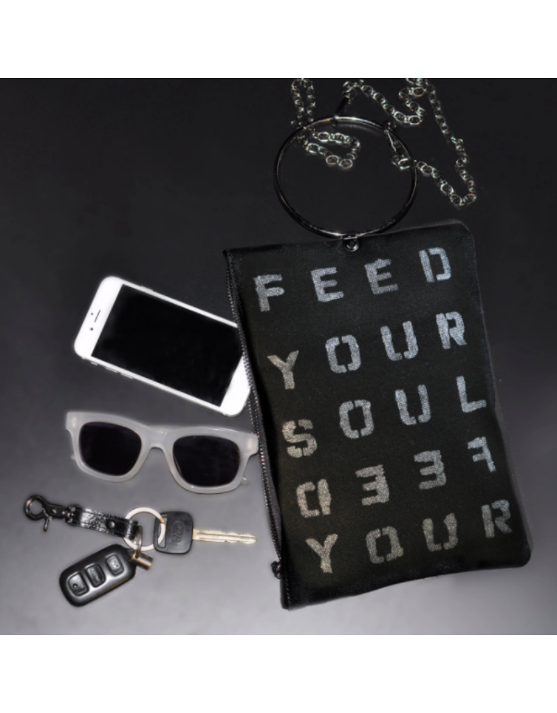 KBD Studio Feed Your Soul Canvas Ring Purse