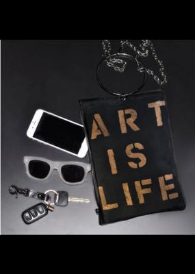KBD Studio Art is Life Canvas Ring Purse