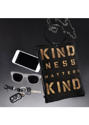 KBD Studio Kindness Matters Canvas Ring Purse