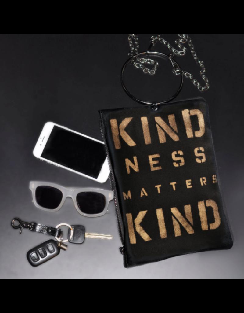 KBD Studio Kindness Matters Canvas Ring Purse