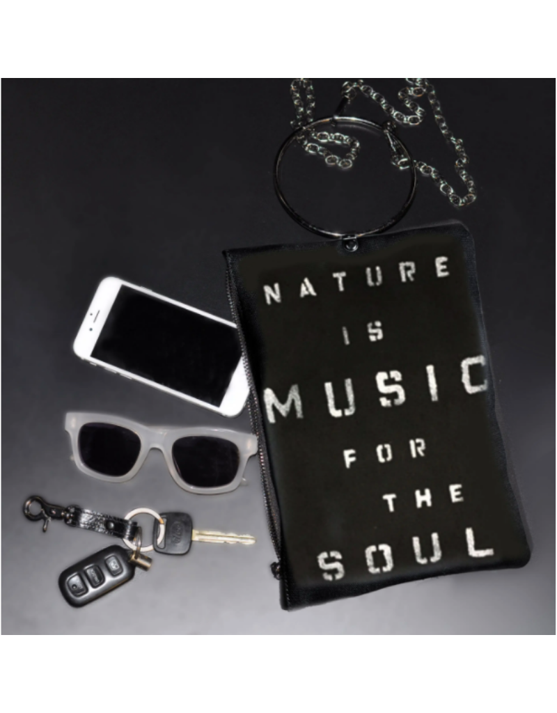 KBD Studio Nature is Music for the Soul Canvas Ring Purse