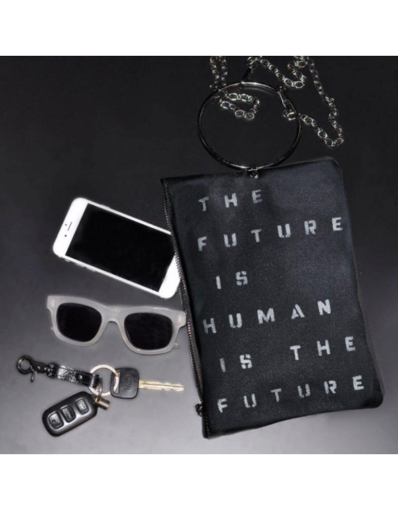 KBD Studio Future is Human Canvas Ring Purse