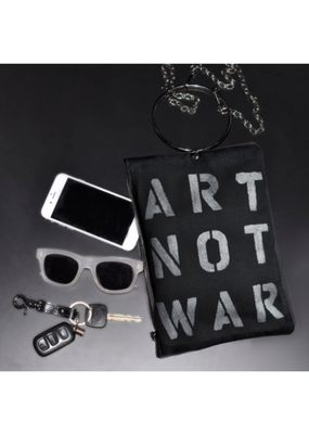 KBD Studio Art Not War Canvas Ring Purse