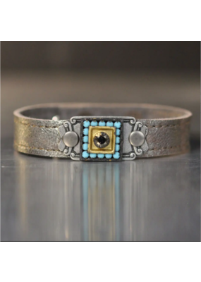 KBD Studio Stackers with Vintage Stones- Sterling
