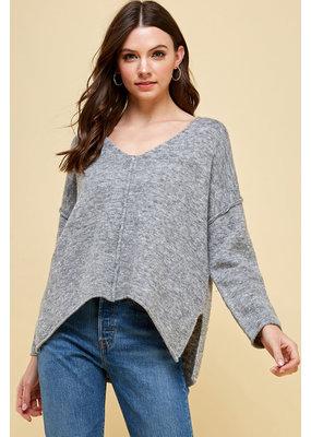 Pinch by Parkland Pinch by Parkland Center Seam V-Neck Sweater