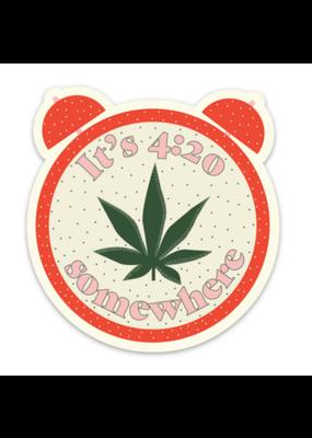 Fun Club It's 4:20 Somewhere Sticker