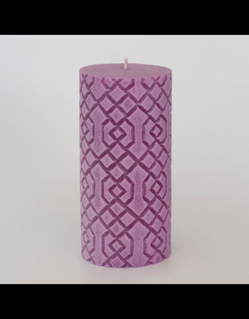 Alo Candles Diamond Pattern Candle- Tall