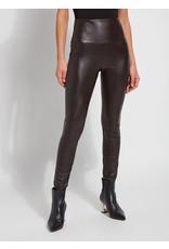 Lysse Textured Leather Legging Double Espresso