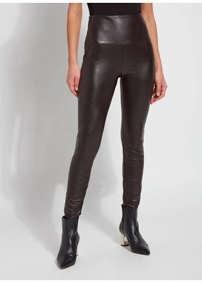 Lysse Textured Leather Legging Double Espresso