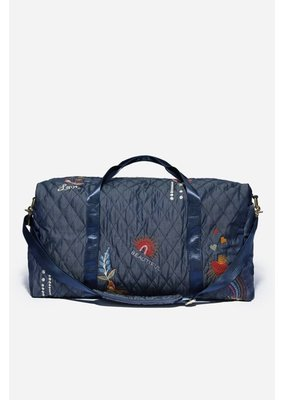 Johnny Was Quilted Duffel Denim Blue