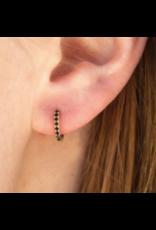 Kestan Alva Black Huggie Hoop Earring