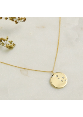Quill Fine Jewelry & Lifestyle Disc CZ Necklace